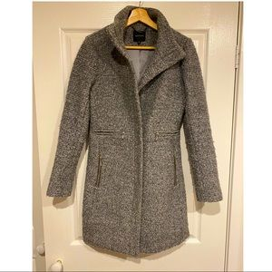 Portmans wool blend boucle grey jacket withpockets